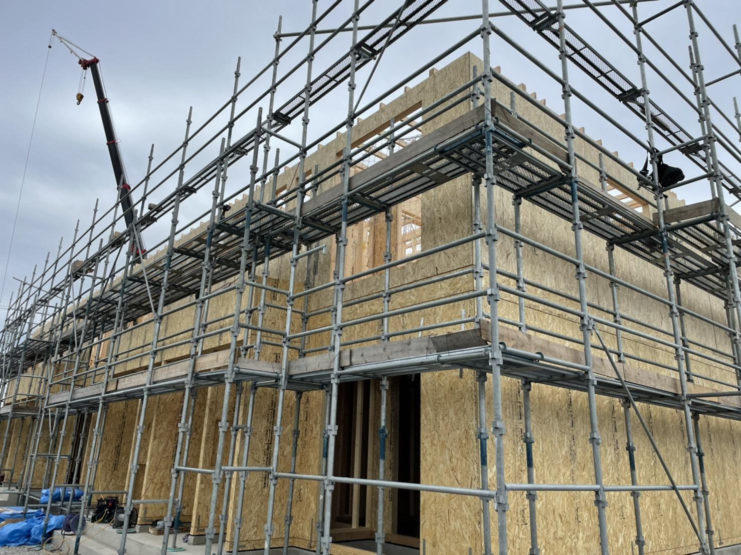 鯖江市現場 木造 2×4工法 建方工事