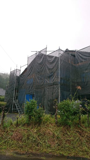福井県越前町織田  改装足場工事