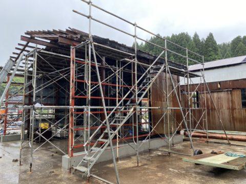 屋根・壁改修用足場工事