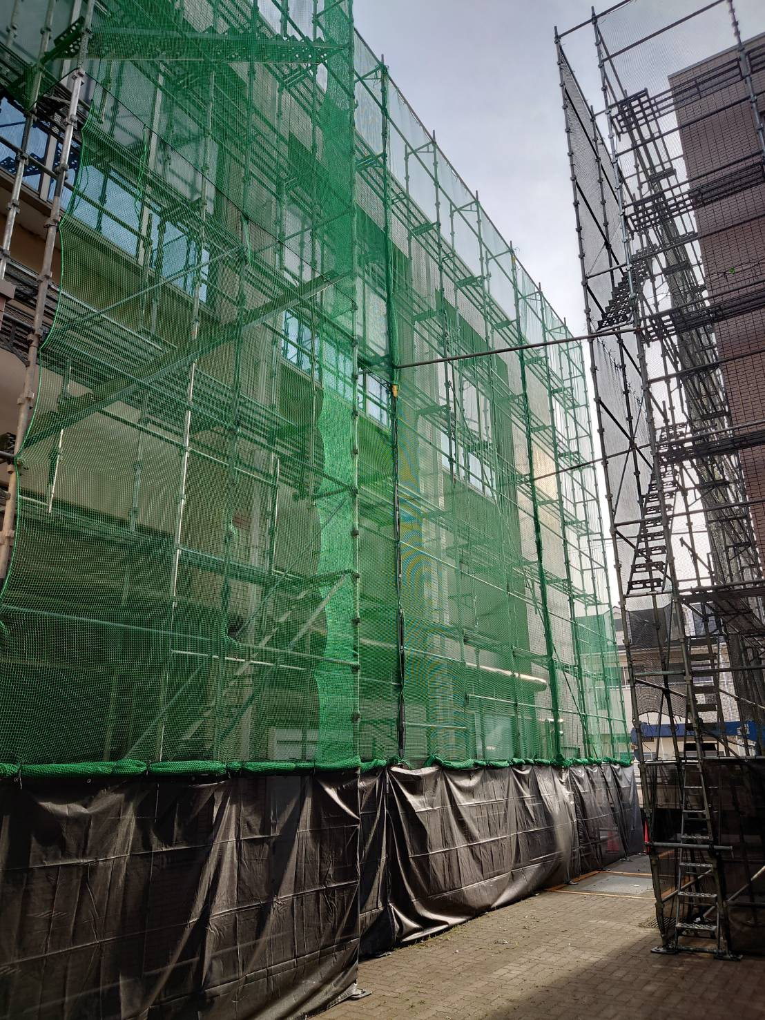 福井県福井市 某病院現場 垂直ラッセルネットはり