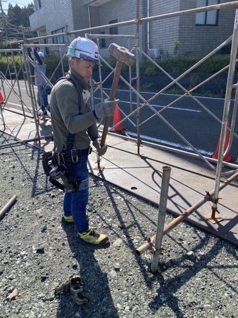 仮囲い組立 足場工事(福井県おおい町)