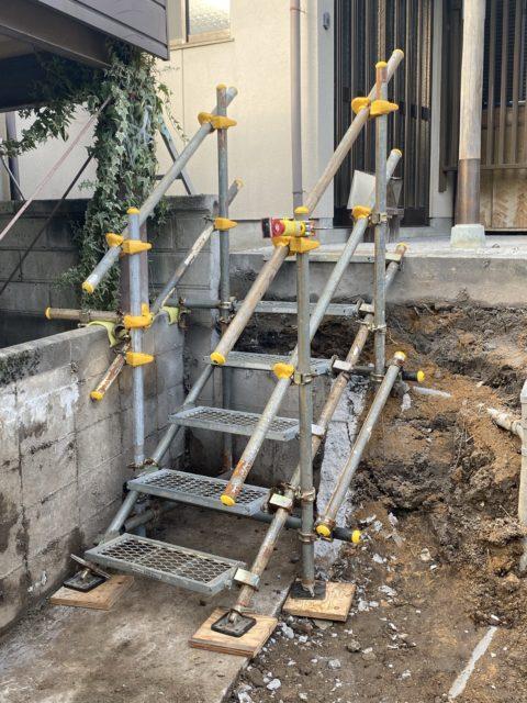 仮設昇降階段設置(鯖江市)