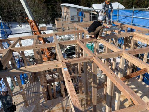 新築木造建方工事(越前町)