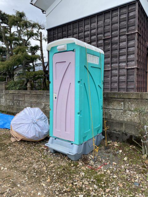 仮設トイレ設置(鯖江市)