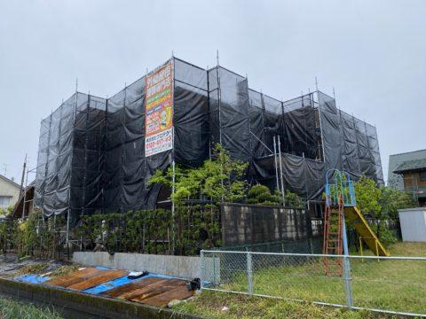 外壁塗装用. 足場工事(福井市)