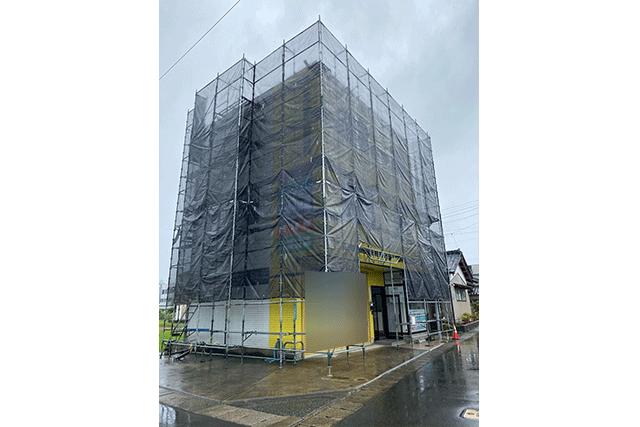 越前市 某会社 塗装工事用 一側足場組立